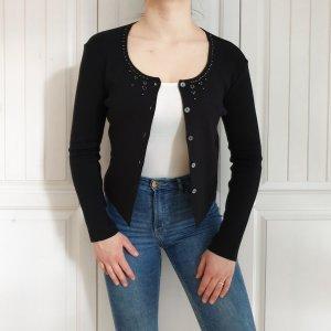 S Bottega Cardigan schwarz Strickjacke Pulli Pullover jacke mantel steine