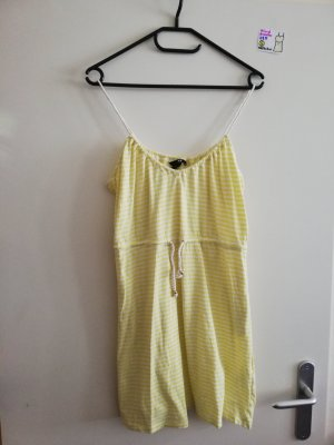 S Kleid ärmellos gelb weiß H&M