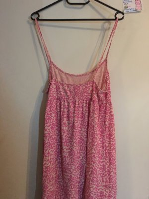 S Kleid ärmellos H&M rosa weiß