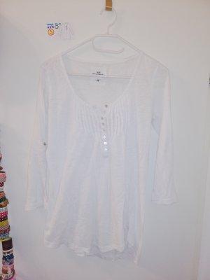 S langärmeliges Shirt weiß H&M