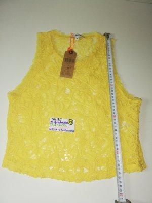 S M Shirt gelb tally weijl gelb nagelneu