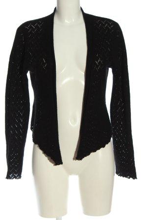 S.Marlon Knitted Cardigan black weave pattern elegant