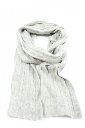 S.Marlon Cashmere Scarf light grey flecked simple style