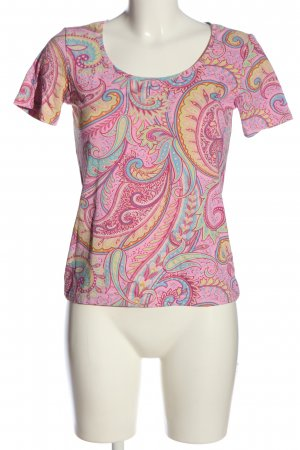 S.Marlon Short Sleeved Blouse abstract pattern casual look