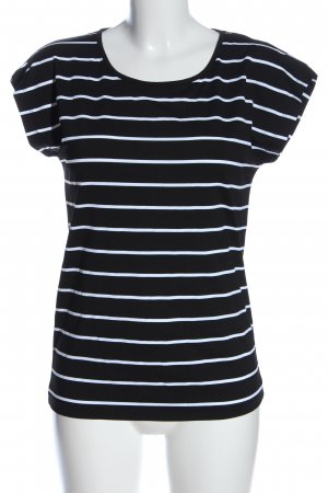 S.Marlon Stripe Shirt black-white striped pattern casual look