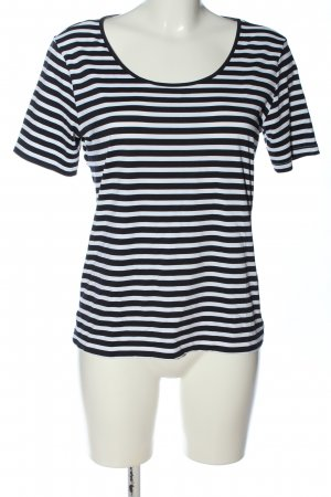 S.Marlon Stripe Shirt black-white allover print casual look