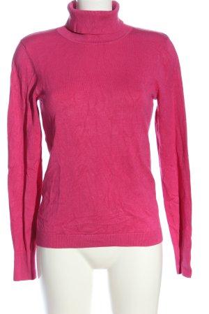 S.Marlon Camisa de cuello de tortuga rosa look casual