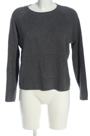 S.Marlon Crewneck Sweater light grey-white flecked casual look