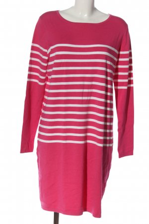 S.Marlon Knitted Dress pink-white striped pattern casual look