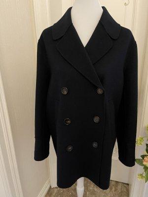 'S MaxMara Wollen jas donkerblauw