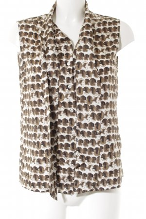 'S MaxMara ärmellose Bluse abstraktes Muster Casual-Look
