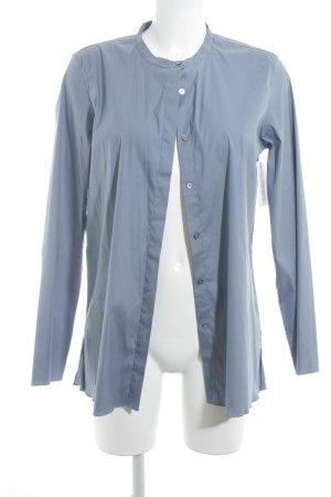 'S MaxMara Langarm-Bluse graublau Business-Look