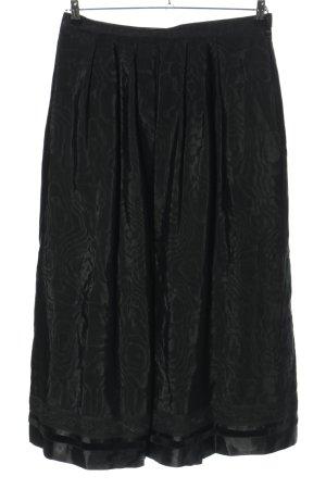 S Modell Jupe à plis noir style décontracté