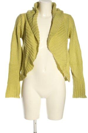 S'NOB Veste en tricot vert style décontracté