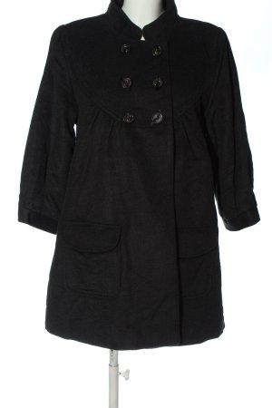 S'NOB Płaszcz przejściowy czarny W stylu biznesowym