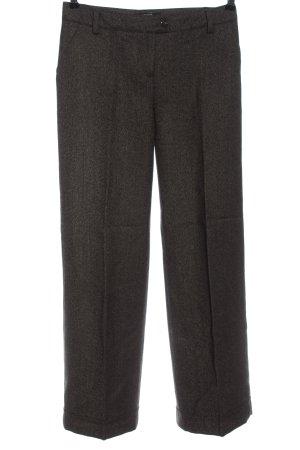 S'NOB Wełniane spodnie brązowy Melanżowy W stylu biznesowym