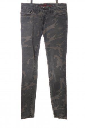 S.O.S by Orza Studio Slim Jeans khaki Camouflagemuster Casual-Look
