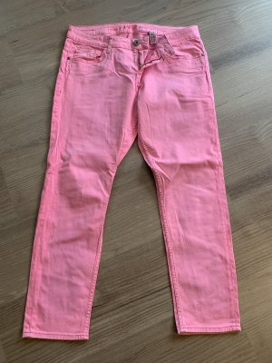 s.Oliver 7/8 Length Jeans pink-neon pink