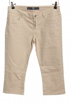 s.Oliver Pantalone a 3/4 bianco sporco stile casual