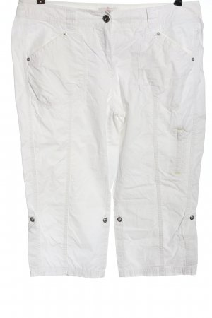 s.Oliver Pantalone a 3/4 bianco stile casual