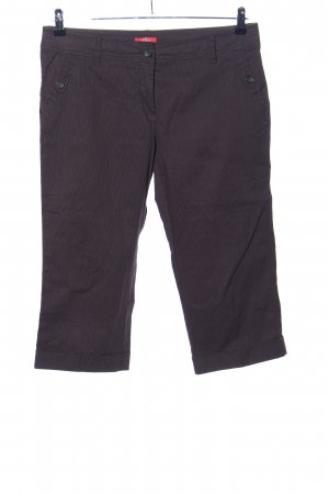 s.Oliver 3/4-Hose braun Streifenmuster Casual-Look