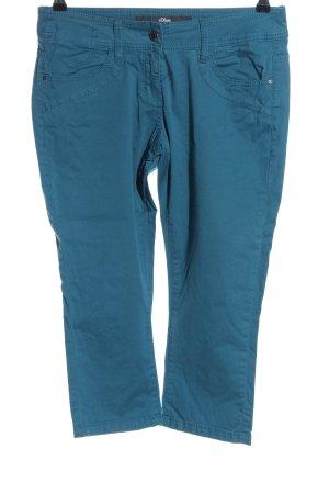 s.Oliver Spodnie 3/4 niebieski W stylu casual