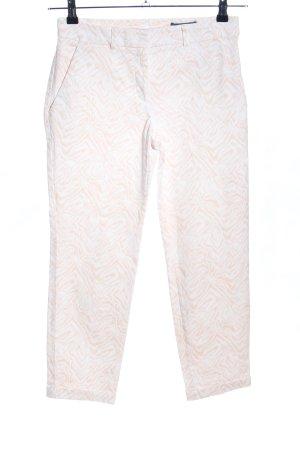 s.Oliver 7/8-Hose creme-weiß abstraktes Muster Business-Look