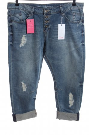 s.Oliver 7/8 Jeans blau Casual-Look