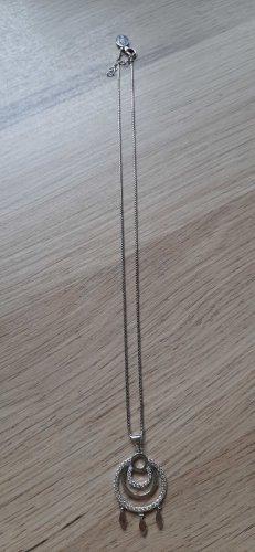 s.Oliver 925er Silber Halskette mit Anhänger mit Zirkonia Ethno-Look