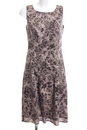 s.Oliver A-Linien Kleid braun-wollweiß Blumenmuster Casual-Look