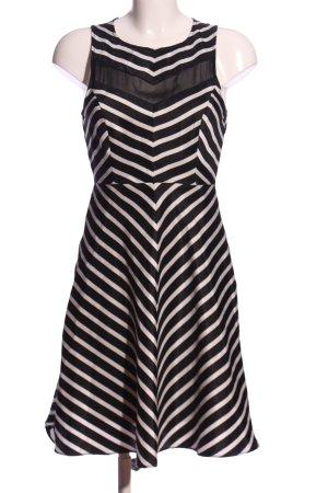 s.Oliver A-Linien Kleid schwarz-weiß Allover-Druck Elegant