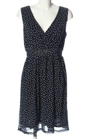 s.Oliver A-Linien Kleid schwarz-weiß Punktemuster Casual-Look