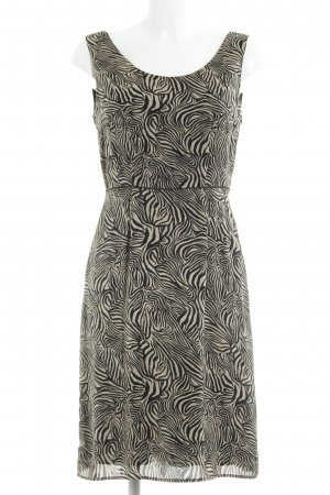 s.Oliver A-Linien Kleid schwarz-nude abstraktes Muster Elegant