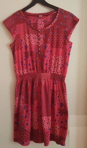 1--01 Babaton Sukienka z krótkim rękawem ciemny fiolet-głęboka czerwień