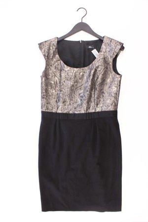 s.Oliver Abendkleid Größe 40 Kurzarm mit Glitzer schwarz aus Polyester