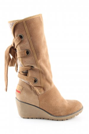 s.Oliver Absatz Stiefel nude Casual-Look