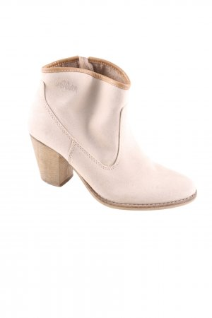s.Oliver Absatz Stiefel creme Casual-Look