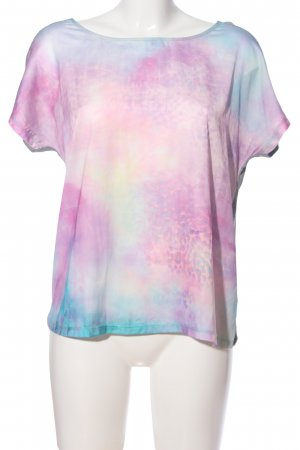 s.Oliver T-Shirt hellgrau-pink Farbverlauf Casual-Look
