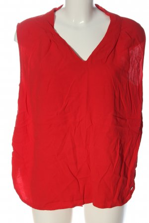 s.Oliver Blusa sin mangas rojo look casual