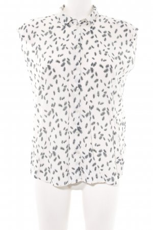 s.Oliver ärmellose Bluse weiß abstraktes Muster Business-Look