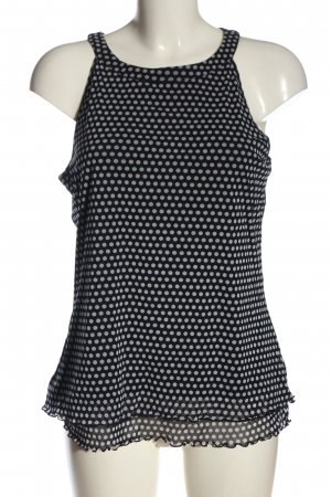 s.Oliver Sleeveless Blouse black-white allover print casual look