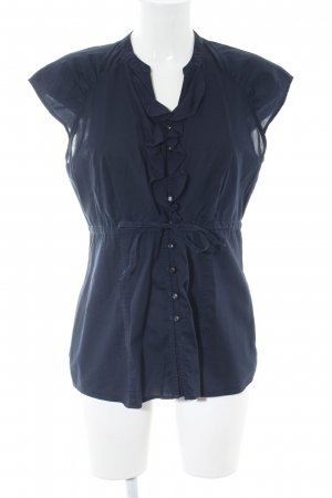 s.Oliver ärmellose Bluse blau Casual-Look