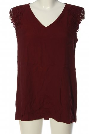 s.Oliver ärmellose Bluse rot Casual-Look