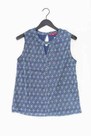 s.Oliver Ärmellose Bluse Größe 38 blau aus Polyamid