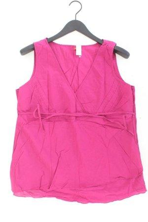 s.Oliver Ärmellose Bluse Größe 46 mit Gürtel pink aus Baumwolle