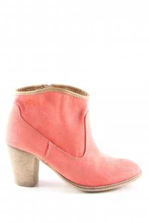 s.Oliver Ankle Boots red casual look