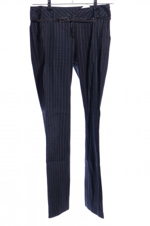s.Oliver Suit Trouser blue-white allover print business style