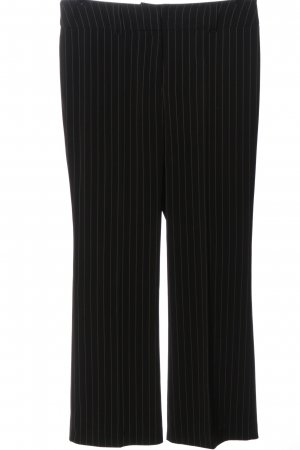 s.Oliver Pantalone da abito nero-bianco sporco motivo a righe