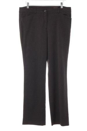 s.Oliver Anzughose schwarzbraun-weiß meliert Business-Look