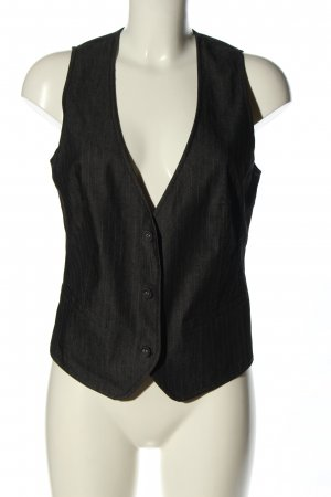 s.Oliver Chaleco de vestir negro estampado a rayas estilo «business»
